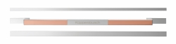 Küppersbusch Griff Silver Chrome/Einleger Copper DK 3013