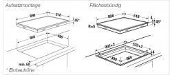 Küppersbusch Glaskeramik-Kochfeld KE 9340.0 SR schwarz, rahmenlos