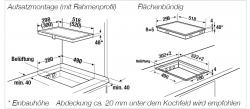 Küppersbusch Induktions-Kochfeld VKI 3500.1 SR schwarz, rahmenlos