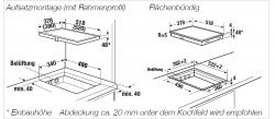 Küppersbusch Induktions-Kochfeld VKI 3800.1 SR schwarz, rahmenlos