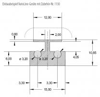 Küppersbusch Verbindungsleiste Metallic Zubehör-Nr. 1130